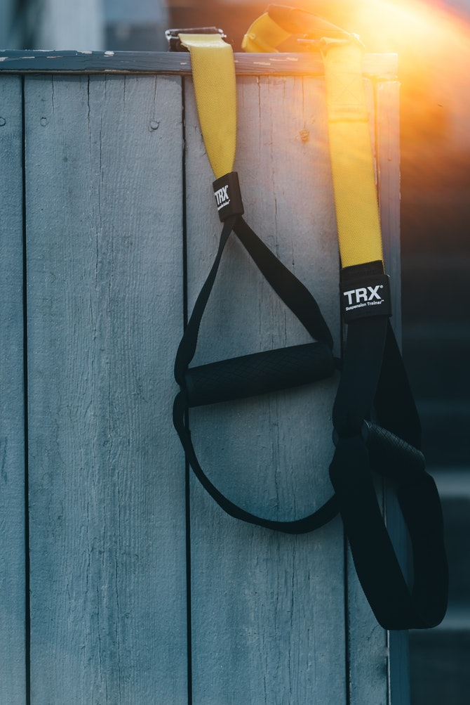 TRX Suspension Trainer Can Be Used Anywhere