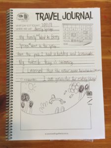 CWK Kids Travel Journal in Use