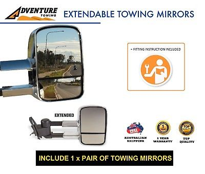 Adventure Extendable Mirrors - Best Caravan Towing Mirrors Like Clear View