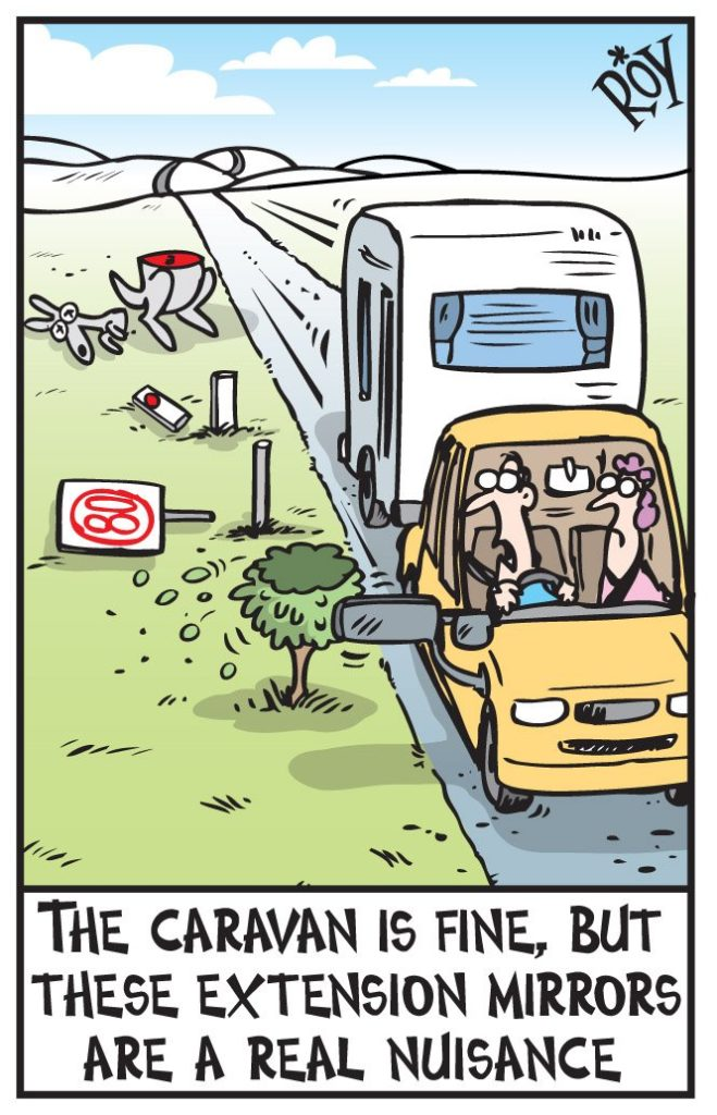 Caravan Towing Mirrors Cartoon