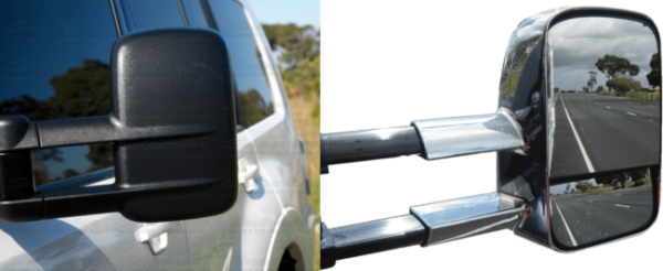 Clear View Extendable Towing Mirrors
