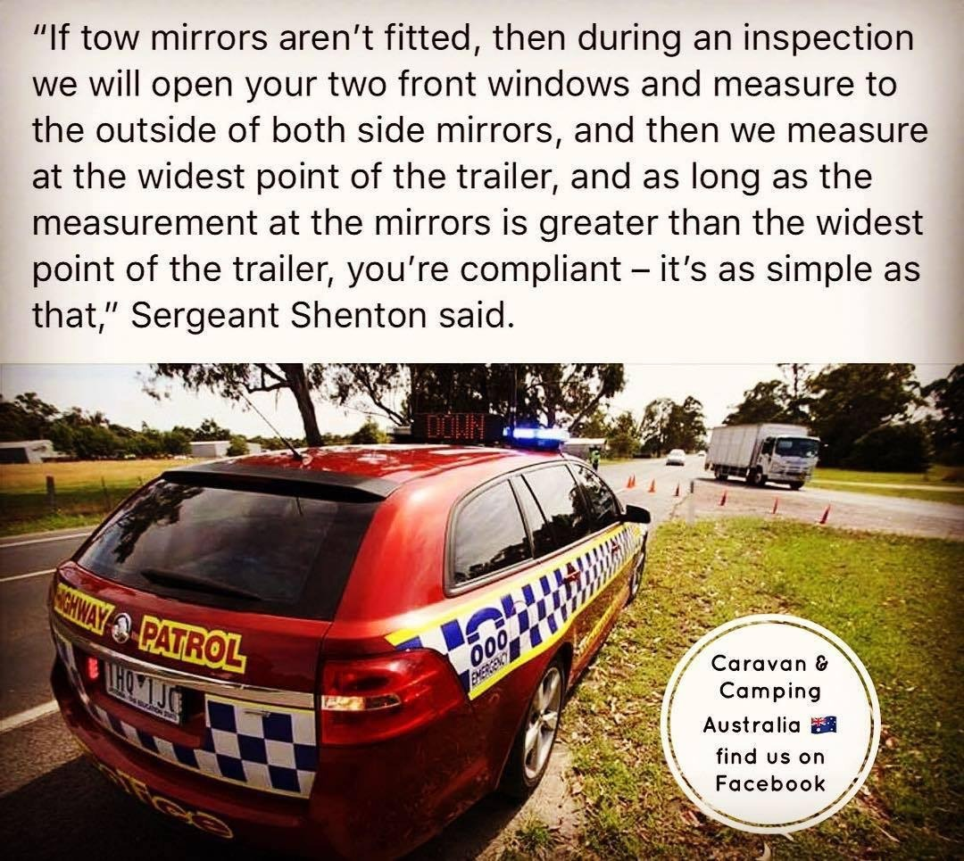 how wide should towing mirrors be