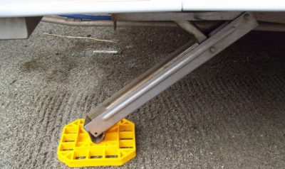 Things to buy for a new caravan - caravan stabiliser pads