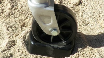 Things to buy for a new caravan - jockey wheel chock pad
