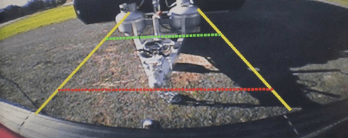 Reversing Camera View to Make Hitching Up a Caravan Easier