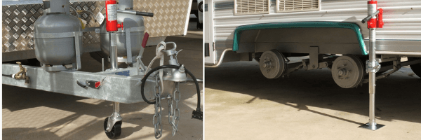 Dual purpose caravan accessories - trail-a-mate hydraulic jack and jockey wheel
