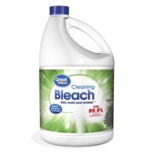 Bleach is recommended by the authorities to clean water tanks