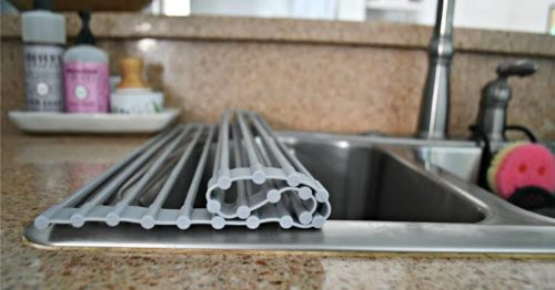 Caravan Storage Ideas - Roll Up Dish Rack