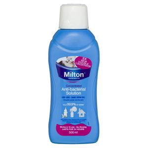 Milton Anti-Bacterial Solution Has The Same Ingredient As Bleach