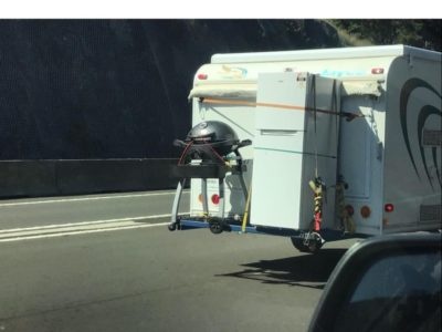 how not to properly load a caravan