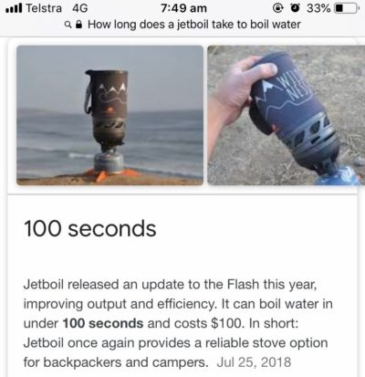 Jetboil Flash - Boiling Water for Your Caravan in 100 seconds