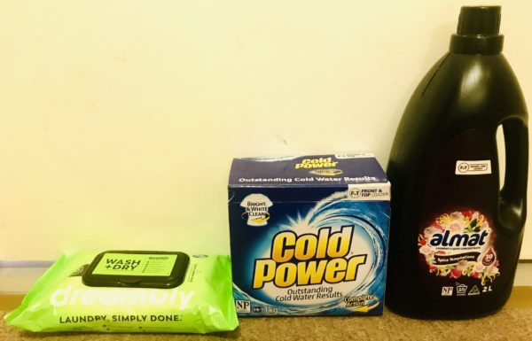 Dreambly Wash + Dry Sheets Compared with Laundry Powder and Liquid
