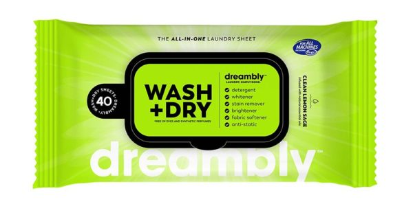 Dreambly Wash and Dry Sheets - Compact Pack of Wipes
