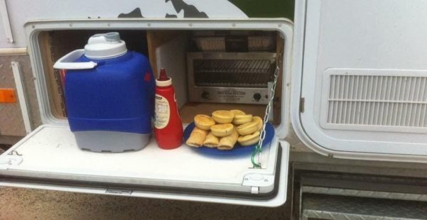Best Jayco Camper Trailer Modifications - Install a Travel Buddy 12 Volt Oven