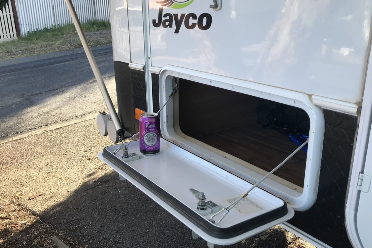 Caravan Tunnel Boot Table Modification for Jayco Swan Camper Trailer