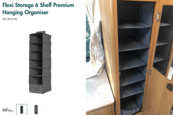 Flexi Storage 6 Shelf Premium Hanging Organisers - Perfect for Cupboard in Jayco Swan
