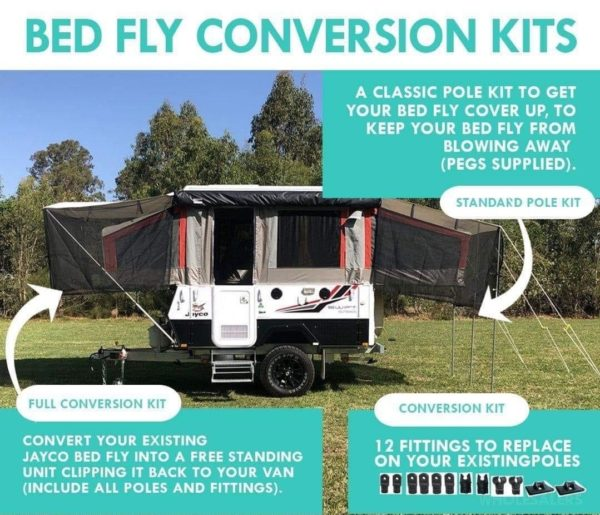 Jayco Camper Trailer - Bed Fly Conversion Kits by Supa Peg