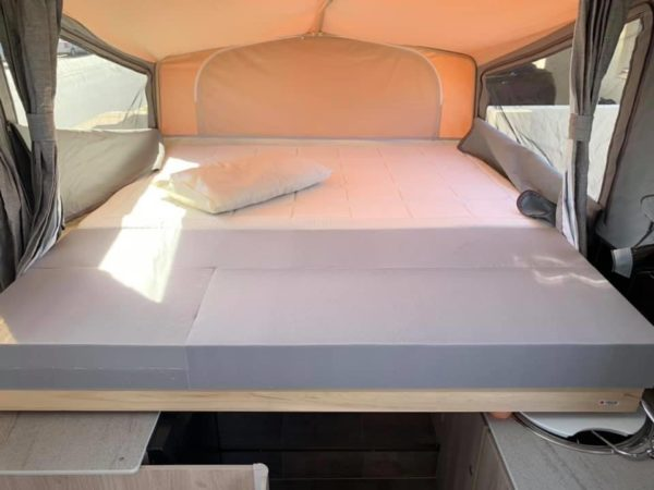 Jayco Swan Camper Trailer Modifcations - Convert one of the beds to king size