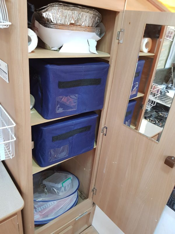 Most Popular Jayco Swan Modifications - Install shelves in the upright cupboard