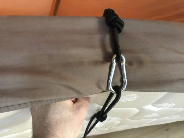 Attaching Base of Bed Divider to Jayco Swan Camper Trailer Mattress
