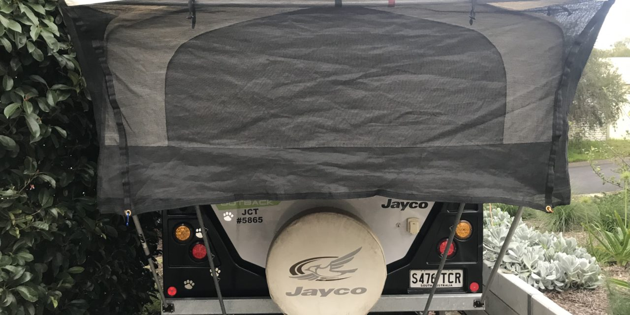 Bed End Fly Modification For Jayco Swan Camper Trailer (Our Review)