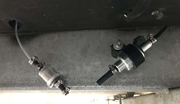Diesel Heater Fuel Filter Connected