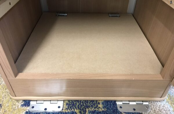 False Bottom Shelf in Jayco Swan Wardrobe