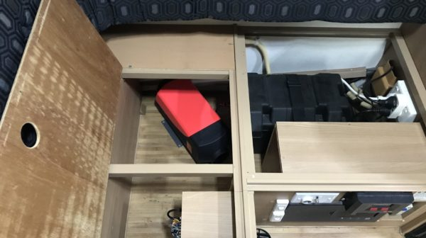 Positioning Diesel Heater in Final Position in Jayco Swan - Based on Chassis Location