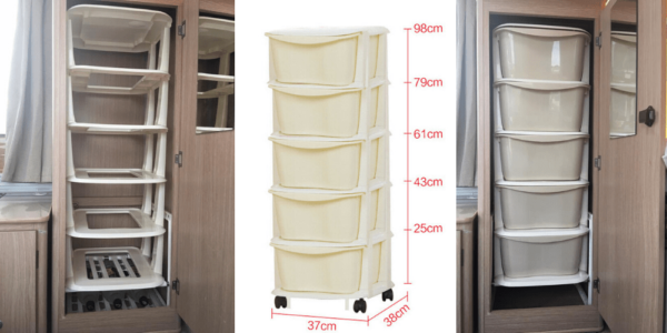 Stackable Plastic Shelves That Fit in Jayco Swan Wardrobe as Shelves