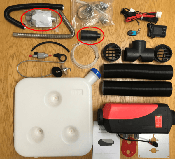 Unboxing Our 5KW Jayco Swan Diesel Heater -Parts and Components