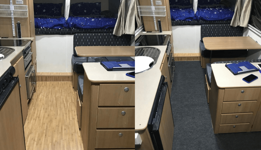 Installing Marine Carpet In A Jayco Swan Camper Trailer