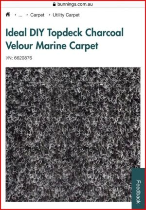 Marine Carpet from Bunnings - Installation in Jayco Swan Camper Trailer