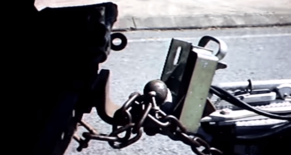 Camper Trailer and Caravan Stolen With Looping Chains Over Tow Ball When Using Coupling Hitch Lock
