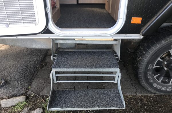 DIY Marine Carpet Step Covers for Jayco Swan Camper Trailer