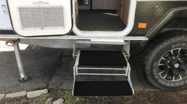 Wrap Around Step Covers for Jayco Swan Camper Trailer from caravanmods