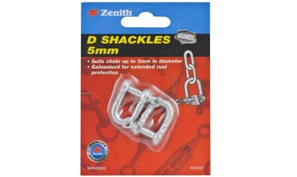 Zenith 5mm D Shackles to Attach Cable to Eye Bolts in Jayco Camper Trailer