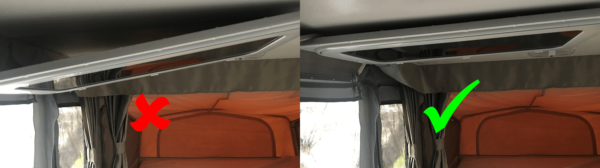 Hanging Jayco Camper Trailer Door on Roof - Incorrect and Correct Methods