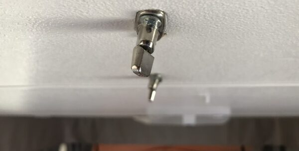 Jayco Swan Camper Trailer - Ceiling Turn Buttons Bent By Incorrectly Closing Roof