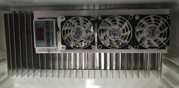 Klevakool Internal Fridge Fan Kit Clipped Inside and Cable Pulled Through