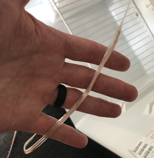 Sticky Tape Power Cable to Plastic Filament