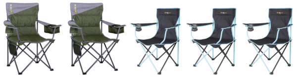 Folding Camper Chairs for Family of 5 Fit in Tunnel Boot of Jayco Swan Camper Trailer