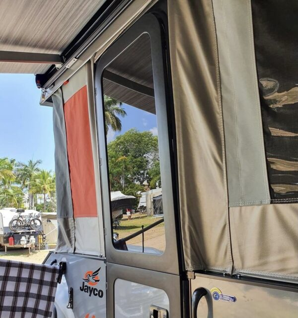 Awning Pulling Roof Sideways so Door Won't Close in Jayco Camper Trailer