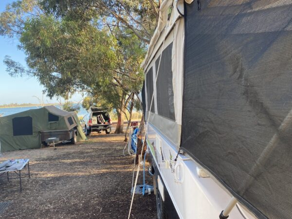 Use Guy Ropes on Jayco Camper Trailer if Door Won't Close