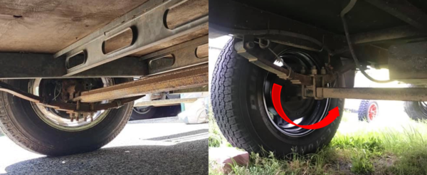 Check the Underslung Axle on Jayco Camper Trailer
