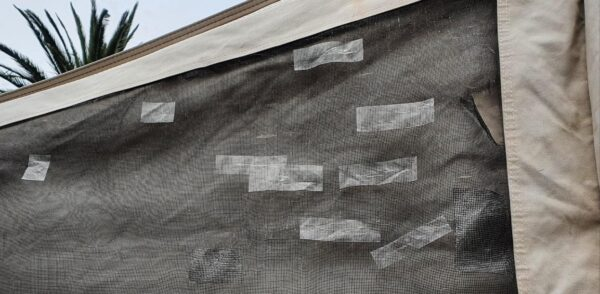 Flyscreens brittle with many holes in Jayco camper trailer